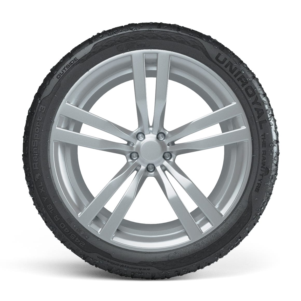 205 55 16 91V 2 x Uniroyal RainSport 3 Performance Road Car Tyres